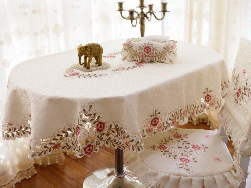 modern oval tablecloth